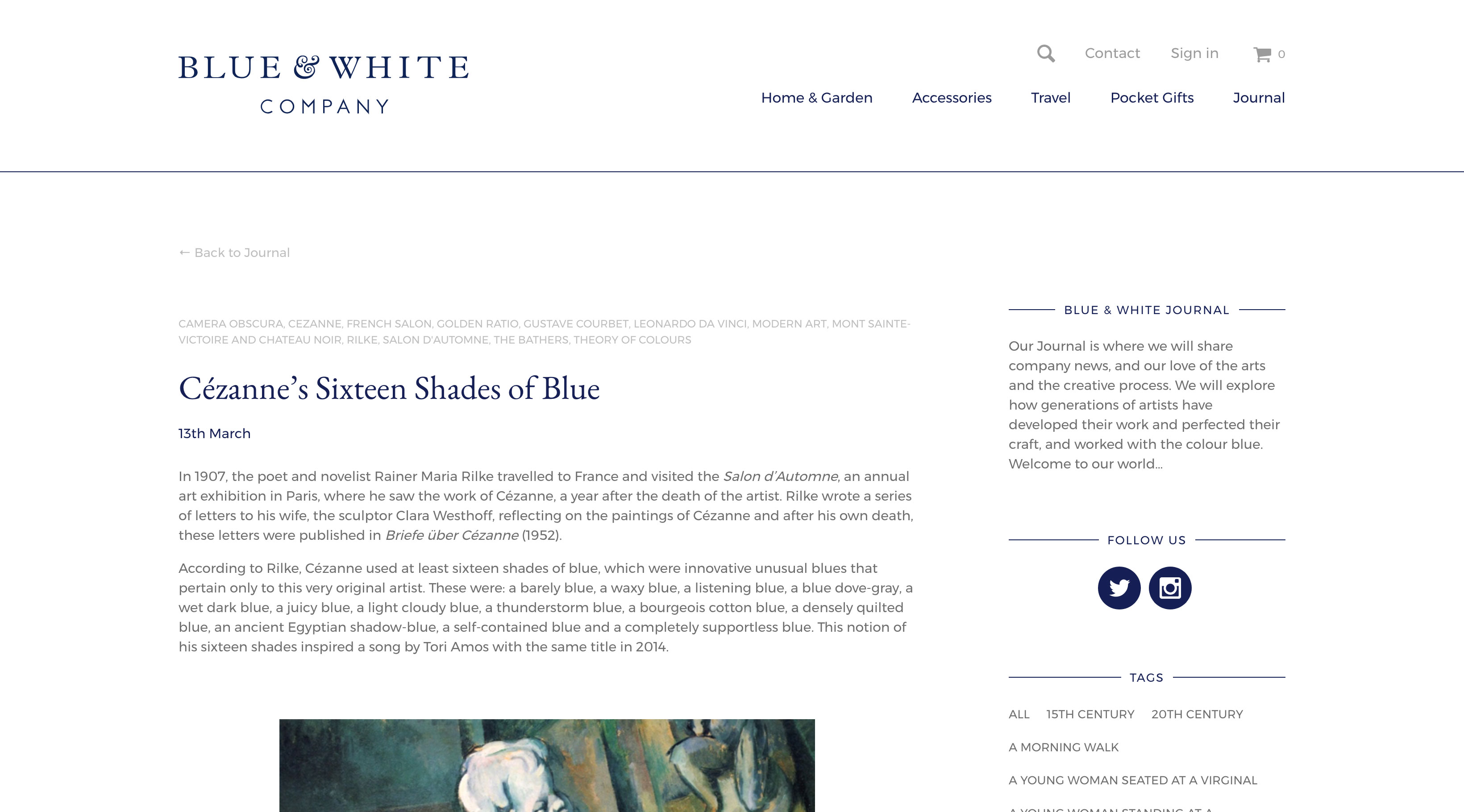 Blue & White Company screenshot