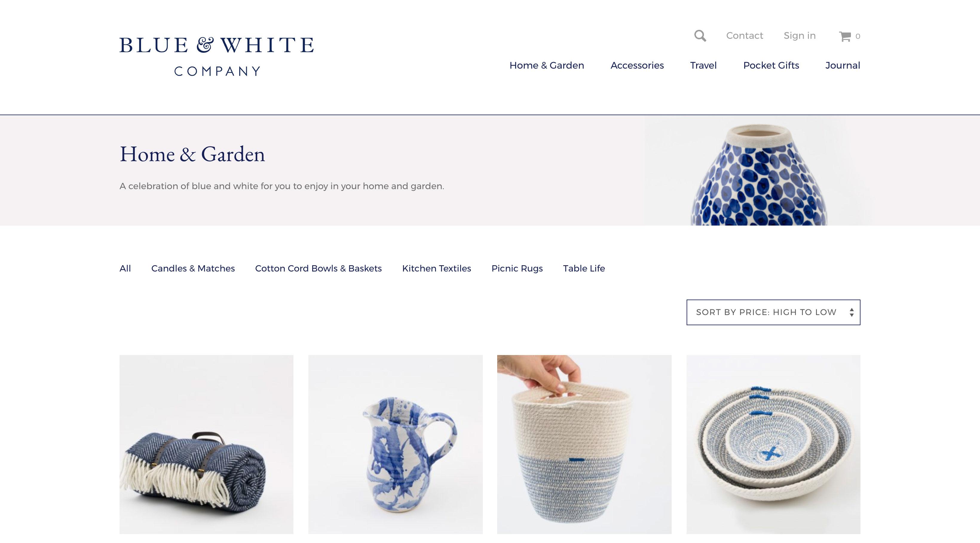 Blue & White Company screenshot