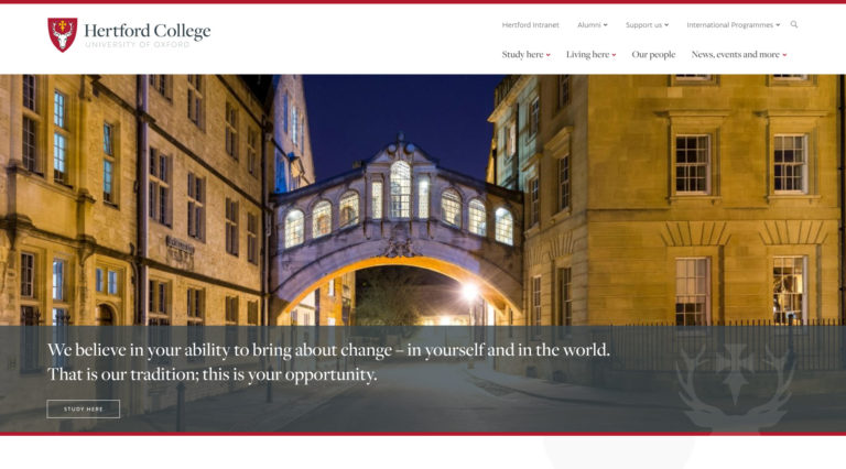 Hertford College screenshot